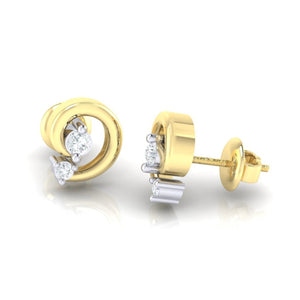 18Kt gold real diamond earring 30(3) by diamtrendz