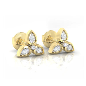 18Kt gold real diamond earring 31(1) by diamtrendz
