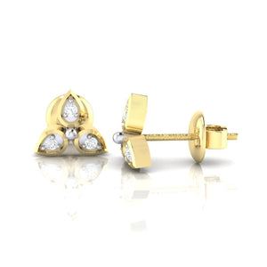 18Kt gold real diamond earring 31(3) by diamtrendz