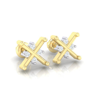 18Kt gold real diamond earring 32(1) by diamtrendz