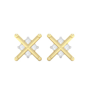 18Kt gold real diamond earring 32(2) by diamtrendz