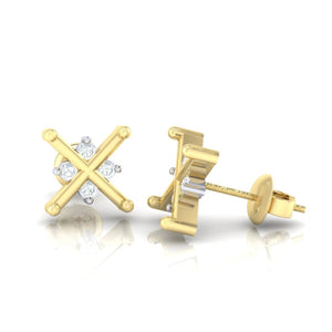 18Kt gold real diamond earring 32(3) by diamtrendz