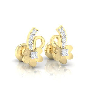 18Kt gold real diamond earring 33(1) by diamtrendz