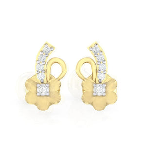 18Kt gold real diamond earring 33(2) by diamtrendz