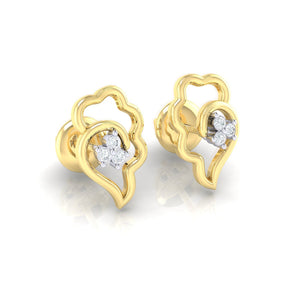 18Kt gold real diamond earring 34(1) by diamtrendz