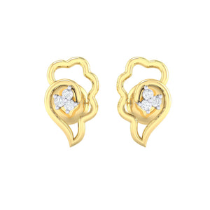 18Kt gold real diamond earring 34(2) by diamtrendz