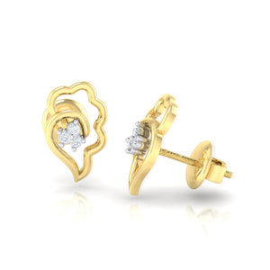 18Kt gold real diamond earring 34(3) by diamtrendz