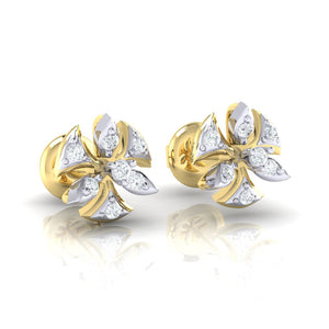 18Kt gold real diamond earring 36(1) by diamtrendz
