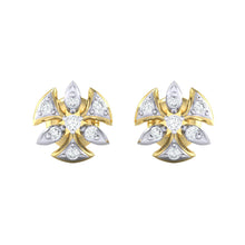 Load image into Gallery viewer, 18Kt gold real diamond earring 36(2) by diamtrendz