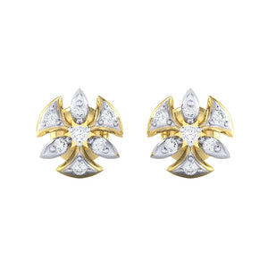 18Kt gold real diamond earring 36(2) by diamtrendz