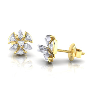 18Kt gold real diamond earring 36(3) by diamtrendz