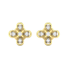 Load image into Gallery viewer, 18Kt gold real diamond earring 37(2) by diamtrendz