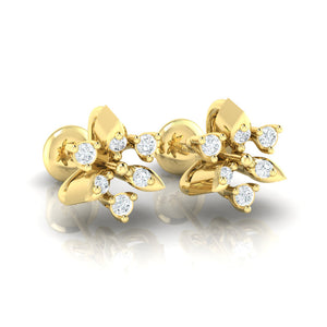 18Kt gold real diamond earring 38(1) by diamtrendz