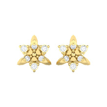 Load image into Gallery viewer, 18Kt gold real diamond earring 38(2) by diamtrendz