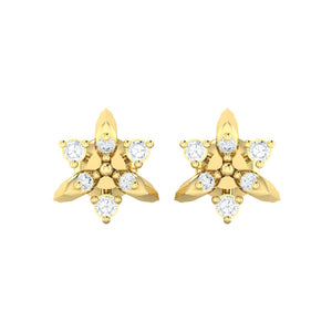 18Kt gold real diamond earring 38(2) by diamtrendz