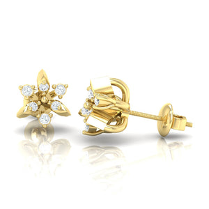18Kt gold real diamond earring 38(3) by diamtrendz