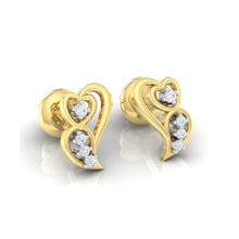 Load image into Gallery viewer, 18Kt gold real diamond earring 39(1) by diamtrendz