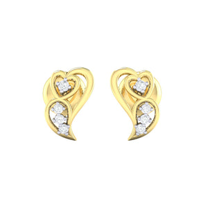 18Kt gold real diamond earring 39(2) by diamtrendz