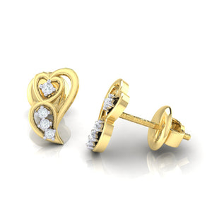 18Kt gold real diamond earring 39(3) by diamtrendz