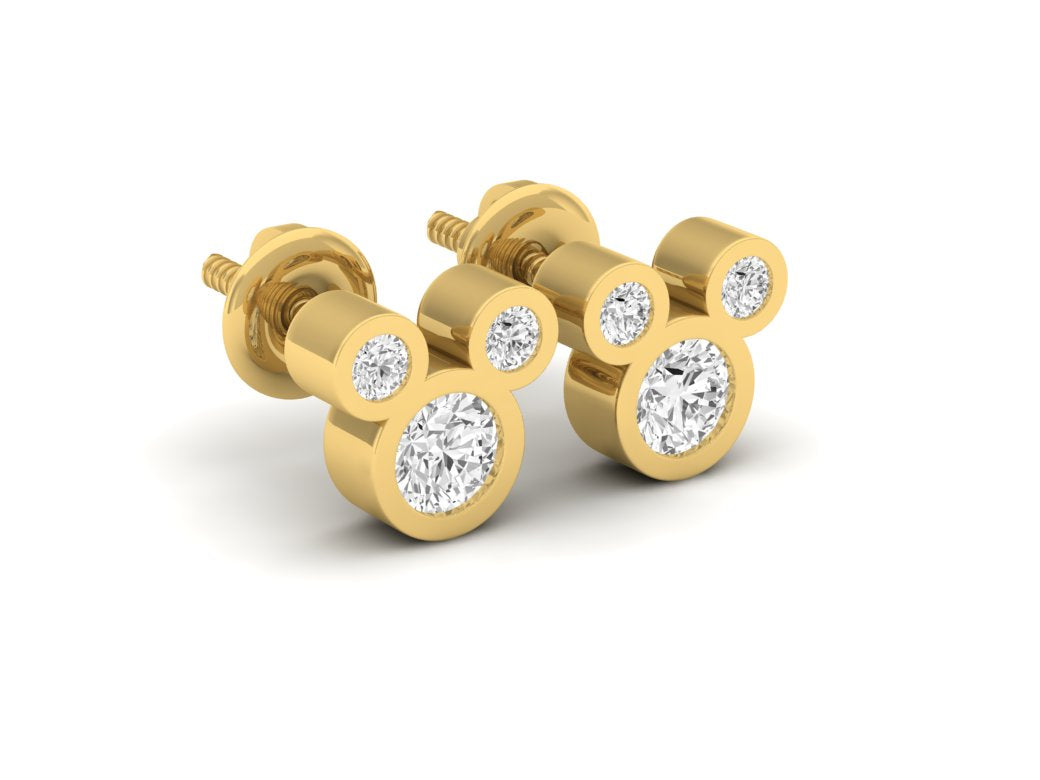 18Kt gold real diamond earring 3(1) by diamtrendz