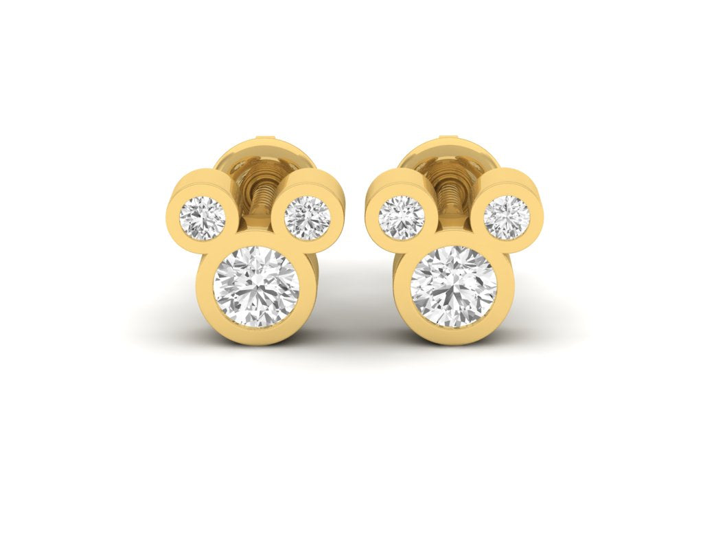 18Kt gold real diamond earring 3(2) by diamtrendz