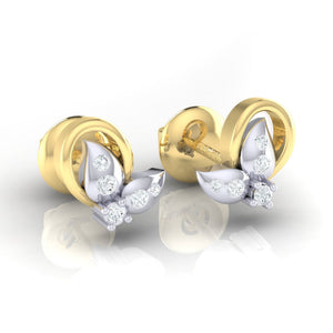 18Kt gold real diamond earring 40(1) by diamtrendz