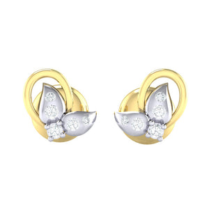 18Kt gold real diamond earring 40(2) by diamtrendz