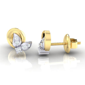 18Kt gold real diamond earring 40(3) by diamtrendz