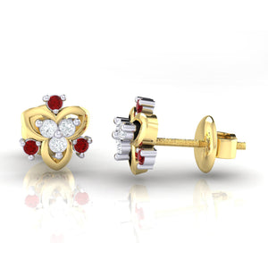 18Kt gold real diamond earring 41(3) by diamtrendz