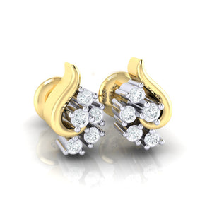 18Kt gold real diamond earring 42(1) by diamtrendz