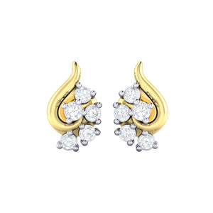 18Kt gold real diamond earring 42(2) by diamtrendz
