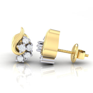18Kt gold real diamond earring 42(3) by diamtrendz