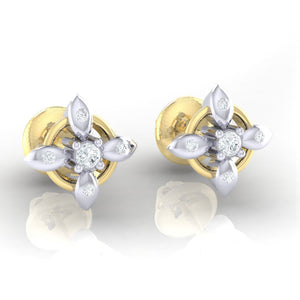 18Kt gold real diamond earring 43(1) by diamtrendz