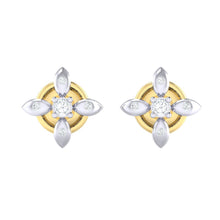 Load image into Gallery viewer, 18Kt gold real diamond earring 43(2) by diamtrendz