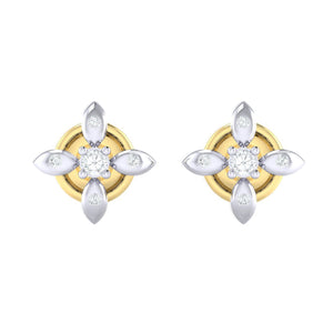18Kt gold real diamond earring 43(2) by diamtrendz