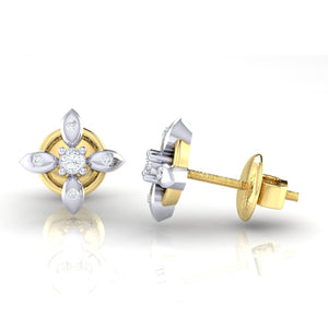 18Kt gold real diamond earring 43(3) by diamtrendz
