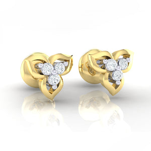 18Kt gold real diamond earring 44(1) by diamtrendz
