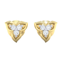 Load image into Gallery viewer, 18Kt gold real diamond earring 44(2) by diamtrendz