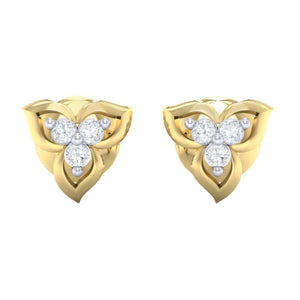 18Kt gold real diamond earring 44(2) by diamtrendz