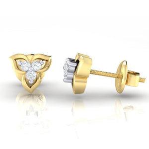 18Kt gold real diamond earring 44(3) by diamtrendz