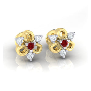 18Kt gold real diamond earring 45(1) by diamtrendz