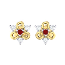 Load image into Gallery viewer, 18Kt gold real diamond earring 45(2) by diamtrendz