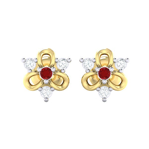 18Kt gold real diamond earring 45(2) by diamtrendz