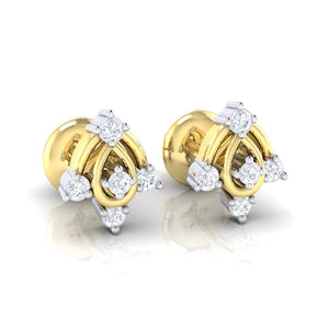 18Kt gold real diamond earring 46(1) by diamtrendz