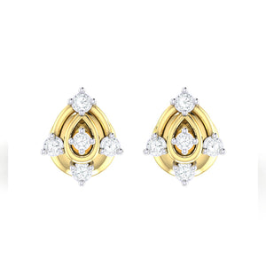 18Kt gold real diamond earring 46(2) by diamtrendz