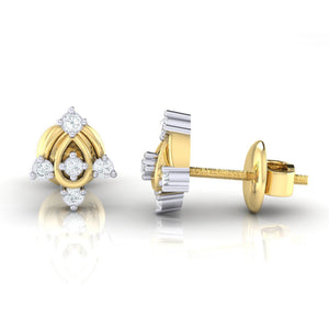 18Kt gold real diamond earring 46(3) by diamtrendz