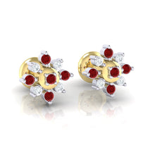 Load image into Gallery viewer, 18Kt gold real diamond earring 47(1) by diamtrendz