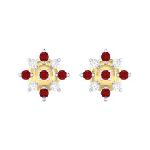 Load image into Gallery viewer, 18Kt gold real diamond earring 47(2) by diamtrendz