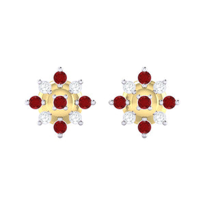 18Kt gold real diamond earring 47(2) by diamtrendz