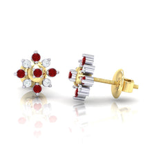Load image into Gallery viewer, 18Kt gold real diamond earring 47(3) by diamtrendz